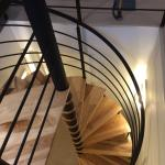Access spiral staircase