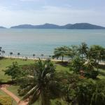 View over South China Sea from hotel room