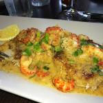 Crab Cakes Topped with Crawfish (delectable)