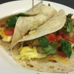 Breakfast tacos cooked in my room