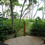 View from beach front bungalow