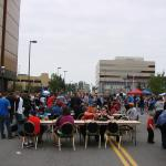 Street party downtown