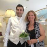 Necati at the reception