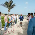 Wedding on beautiful Bibi Island off of main beach.