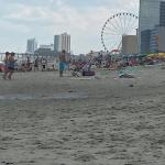 View from beach infront of Breakers. So close to pier and sky wheel!