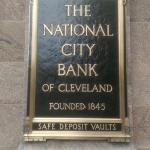 Plaques from the old bank where the Holiday Inn is now.