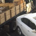 """One of the many trailers trying to get out after being """"blocked"""" by a car parking legally. Not s"""