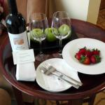 Free wine for honeymoon request
