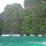 View From The Water While Snorkeling In Krabi