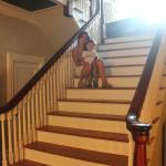 The staircase greets you when you enter (with fresh chocolate chip cookies!)