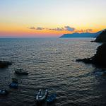 Sunset View from Riomaggiore Harbour