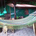 Hammock with bedroom in background