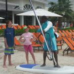 Our kids getting personal windsurfing lessons!