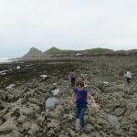 On the rocky beach on the other side of Worm's Head.