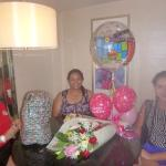 We were surprised to see the flowers, balloons and cake when we got back in our suite.