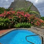 View of our pool and Petit Piton