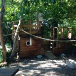 Pirate ship at Creekside Cottage