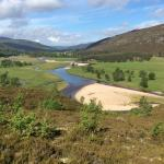 The approach from Braemar
