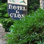 The Hotel Le Clos sign