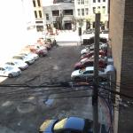 View of alley from our room