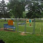 Two dog park areas