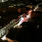 Bourbon Street at night from the 8th floor