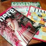 Complimentary magazines in room