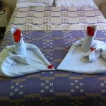 Last day in the room towel art