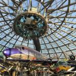 Inside Red Bull Hangar 7 with champagne bar up above