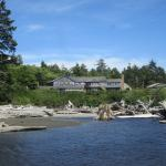 The lodge, looking back from the mouth of Kalaloch Creek
