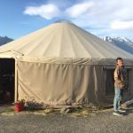 The dining yurt