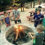 Camp Fire at Cottonwood BBQ- they had s'mores to roast by the fire