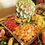 Fruit selection at one of the lunch buffets- fresh and tasty