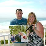 Anniversary Photo on the Balcony