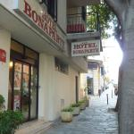 Street view of hotel entrance