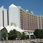 View of the hotel from the marina