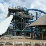 Outdoor Water Park from Beach Area