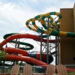 Indoor Water Park Slides (from outside the building.)