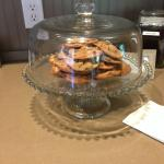 Complimentary mid afternoon cookies