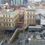View from Room 944 down to China Town & Swanston St