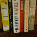 """A small example of the little """"library"""" at the business center in the lobby"""