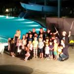 The Great Santini magic show by the pool