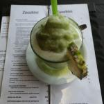 Frozen Mint and Pineapple drink