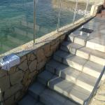 Steps from pool area into sea! Fab!