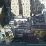 View down to 42nd St