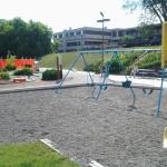 Playground by outdoor pool
