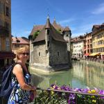 touring in the town of Lake Annecy