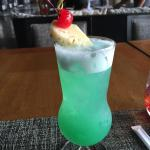 Blue Lagoon Cocktail - Icon Terrace and Lounge