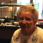 My mother at the breakfast in the Marriott Maida Vale