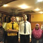With friendly staff (Mr.Tariq who helped us a lot during our stay)